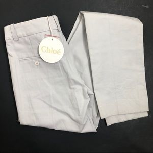 NWT Chloe Airplane Grey Trouser Raw Unhemmed 25